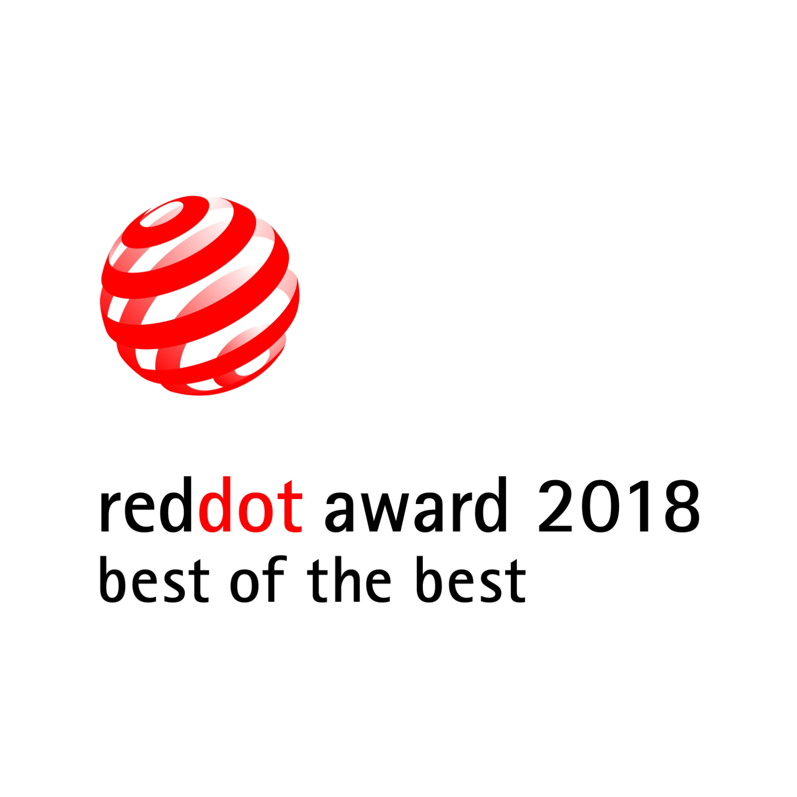 reddot award 2018 - best of the best