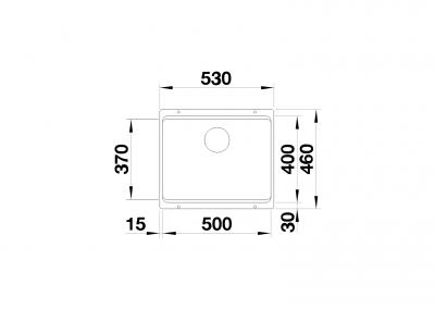 BLANCO Etagon 500-U - At sight