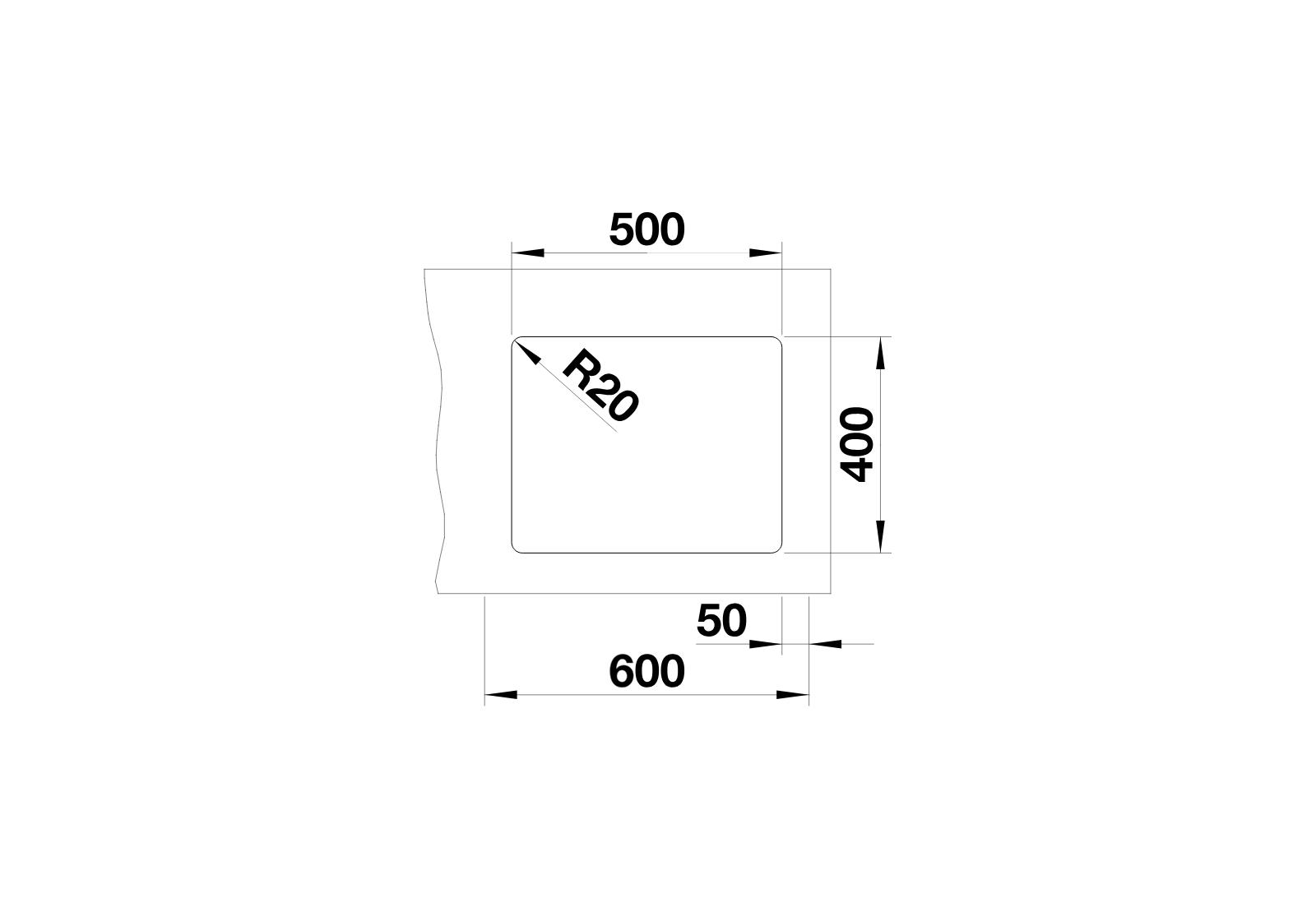 BLANCO Etagon 500-U - Neckline