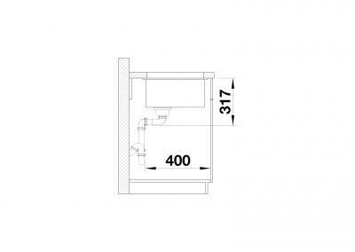 BLANCO Etagon 500-U - Side view