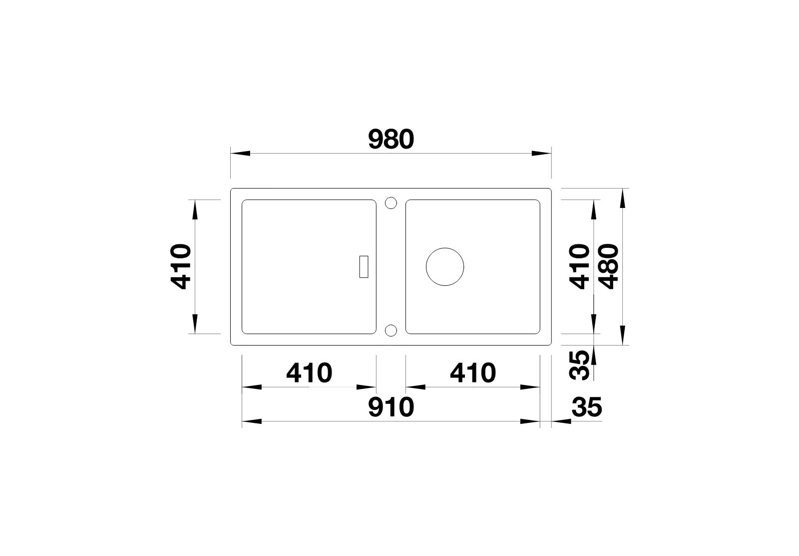 BLANCO Adon XL 6 S - At sight