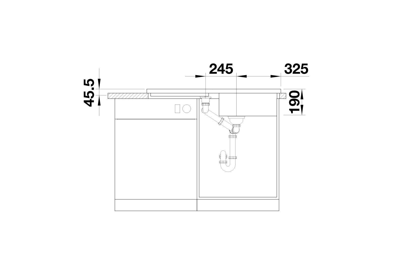 BLANCO Adon XL 6 S - Front view