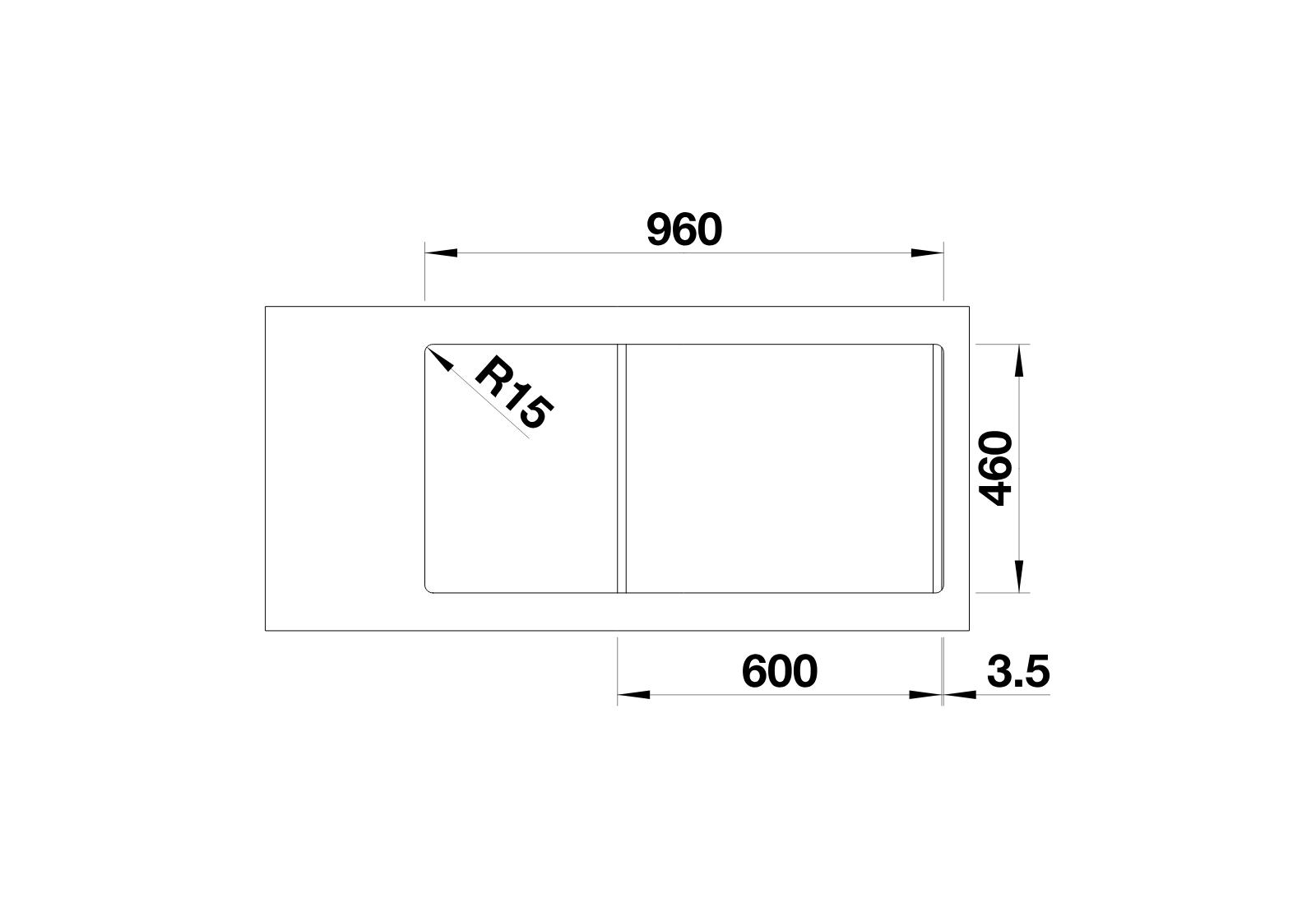 BLANCO Adon XL 6 S - Neckline