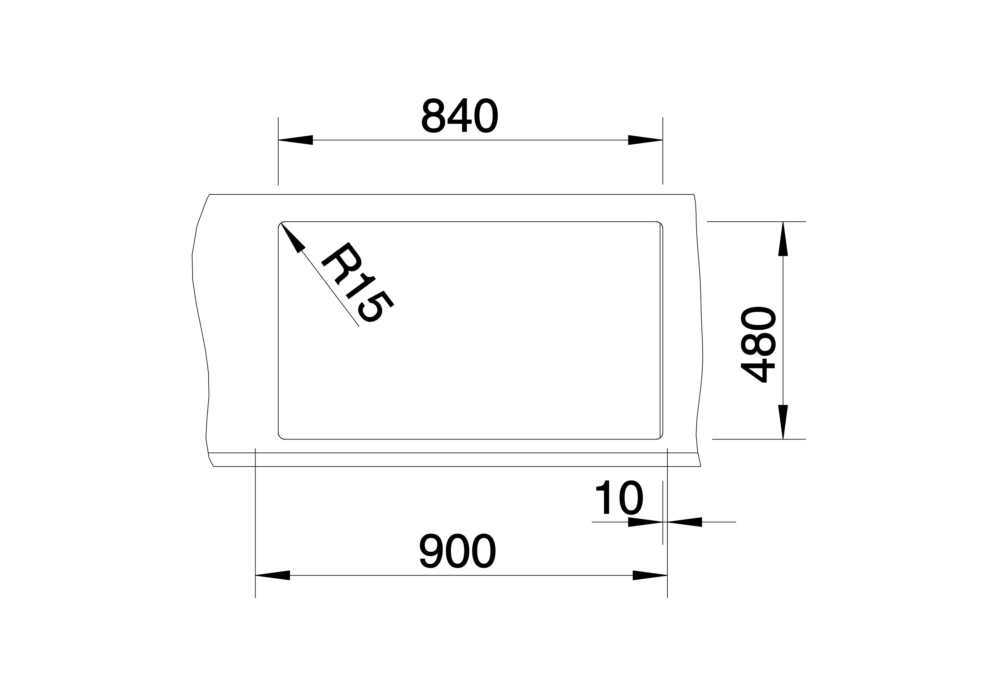 Blanco Metra 9 neckline
